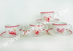 180cc new bone china cup and saucer, bulk packing